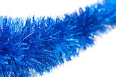 Christmas blue tinsel — Stock fotografie