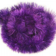 Stock Photo: Circle from violet tinsel
