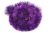 Circle from violet tinsel — Stock Photo