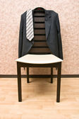 Jacket and chair — Stock Photo