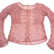 Pink knitted jacket — Stock Photo #2041851