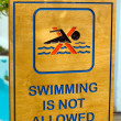 Swimming is not allowed - Stock Photo