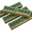 4 pile of computer memory modules 2 - Stock Photo