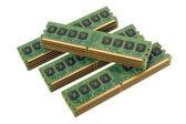 Kupie 4 modułów pamięci komputera 2 — Zdjęcie stockowe