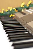 Synthesizer mit lichtern — Stockfoto