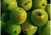 Painting of Green Apples — Stock Photo