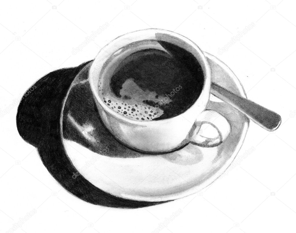 Coffee Spoon Drawing a Realism Pencil Drawing of a