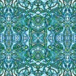 Blue psychedelic background — Stock Photo