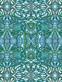 Blauwe psychedelische achtergrond — Stockfoto