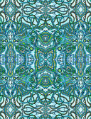 Niebieskim tle psychodeliczny — Zdjęcie stockowe