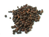Black isolated pepper — Stock Photo