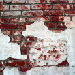 Red grunge brick wall — Stock Photo