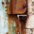 Old rusty garage lock — Stock Photo