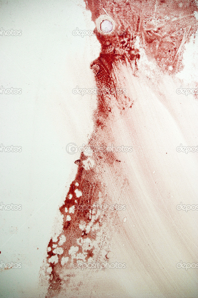 Blood spot on the grunge wall — Stock Photo #1624949