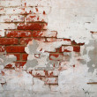 Cracked grunge brickwall background — Stock Photo