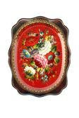 Rosyjski taca tradycyjnych na białym tle — Zdjęcie stockowe