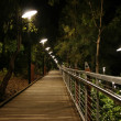 Boardwalk at night — Stock Photo