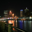 Brisbane city from Southbank — Stock Photo