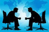 Hommes d'affaires lors d'une réunion — Photo