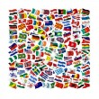 Collection of Flags on white background — Stock Photo