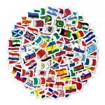 colección de banderas sobre fondo blanco — Foto de Stock