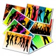 Girls dancing at a party — Stock Photo