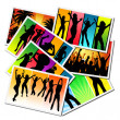 Girls dancing at a party - Stock Photo
