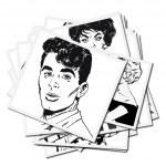 collection d'illustrations avec couples — Photo