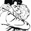 Illustration of a pair of lovers — Stock Photo