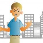 Very angry teenager — Stock Photo