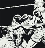 Boxers in a fight — Stock Photo