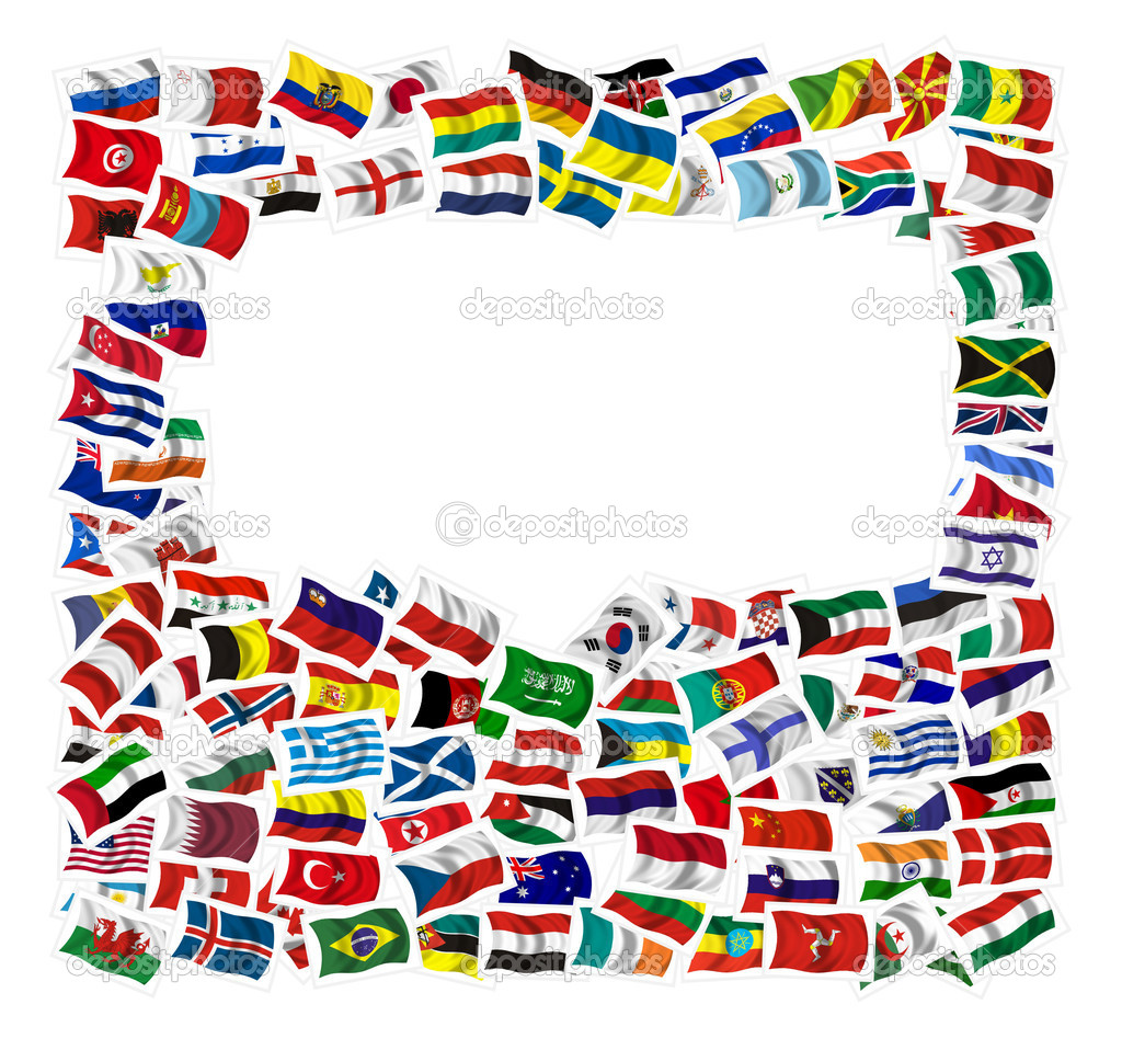 Collection of Flags on a withe background — Stock Photo #1481327