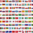 Collection of flags from around the worl - Stock Photo