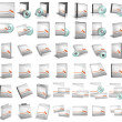 3d render of DVD boxes on white backgrou — Stock Photo