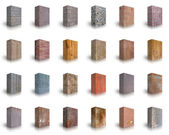 Collection of Wood, Metal & Stone — Stockfoto
