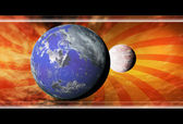 Gezegenler ile arka plan — Stok fotoğraf