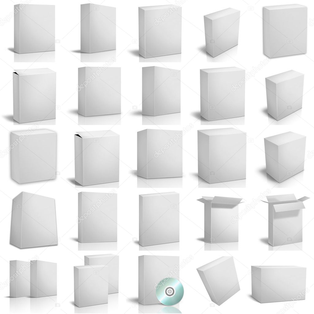 3d render  boxes on white background — Stock Photo #1492328
