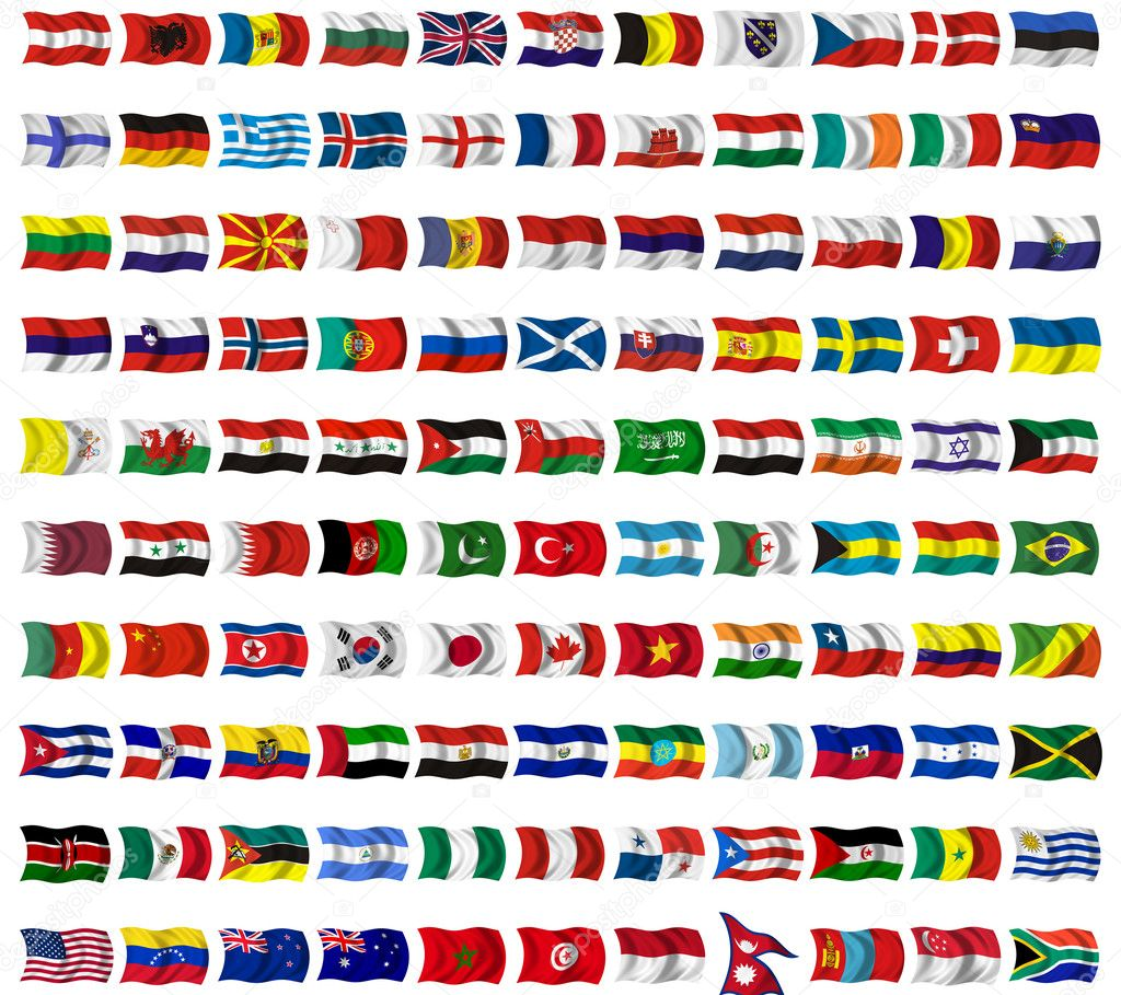 Collection of flags from around the world — Stock Photo #1492343