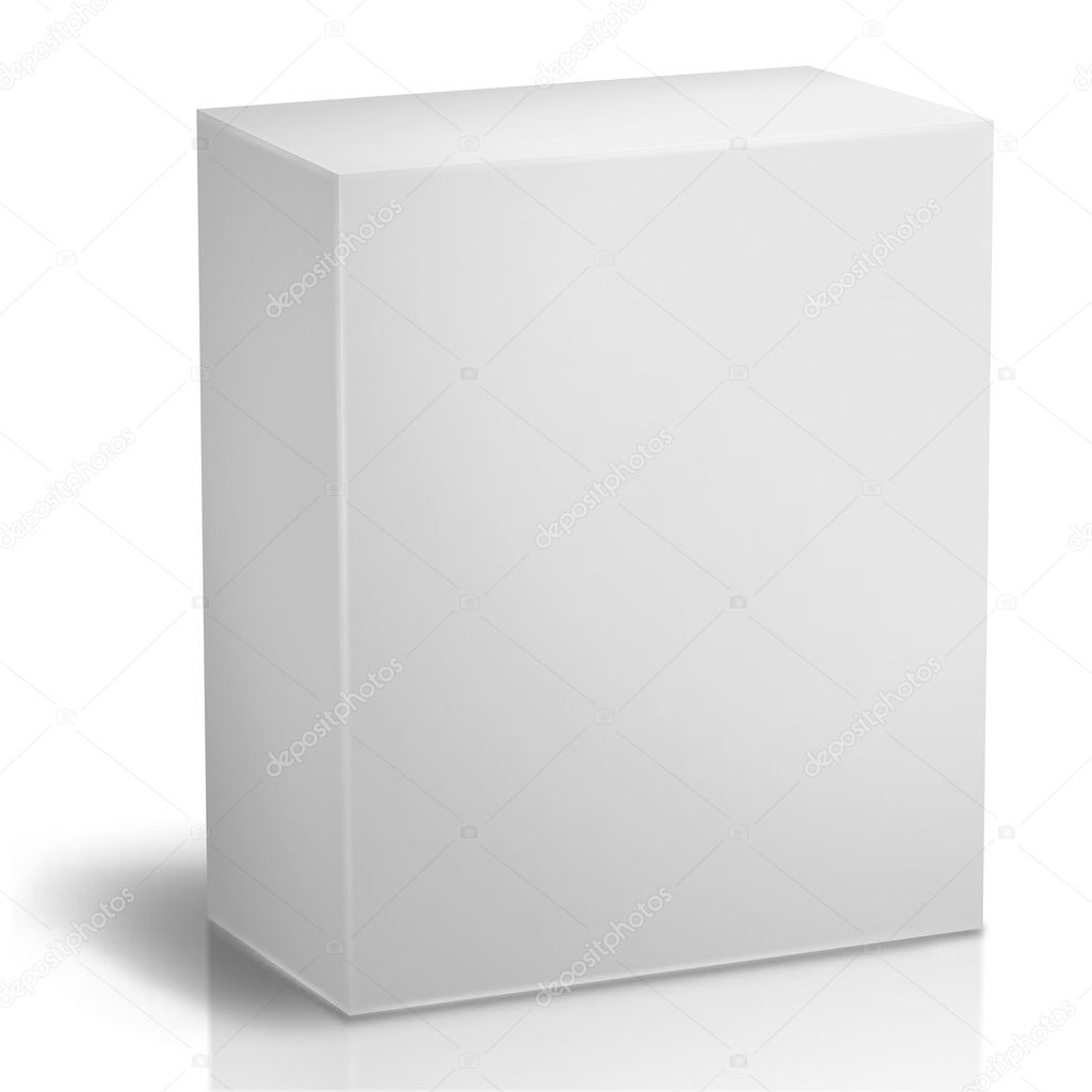 Generic Box  of items for sale at retail — Stock Photo #1492565