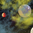 View of the universe with planets — Stock Photo