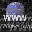 Stock Photo: Internet Concept on Universe