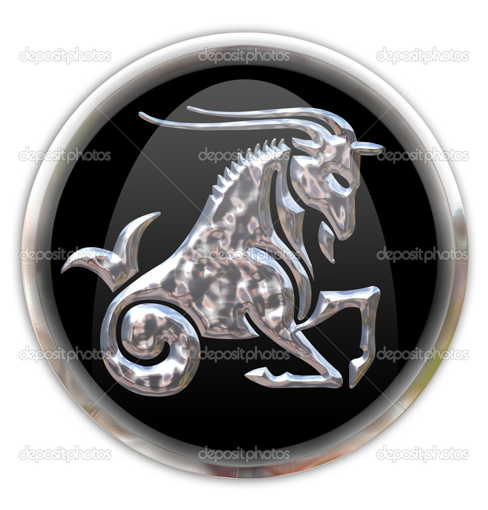 Button with the zodiacal sign  — Stock Photo #1504774