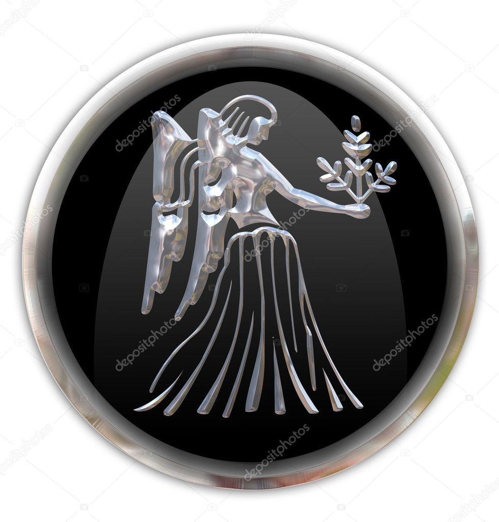Button with the zodiacal sign  Virgo — Stock Photo #1505006