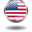 3D United States Flag button illustrati — Stock Photo