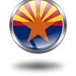 3D Arizona Flag button illustration on a — Stock Photo