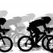 A group of cyclists run a competition — Stock Photo
