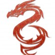 Illustration of a mythical dragon — Stock Photo