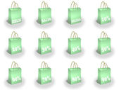 Shopping bags printed with great discoun — Stock Photo