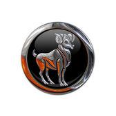Botão com o signo zodiacal de áries — Foto Stock
