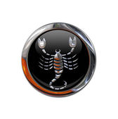 Button with the zodiacal sign Scorpio — Stock Photo